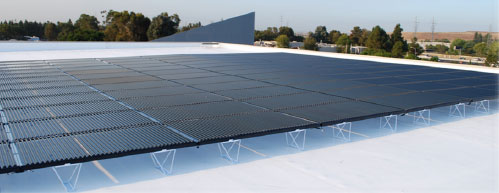 flat rooftop thin film solar pv