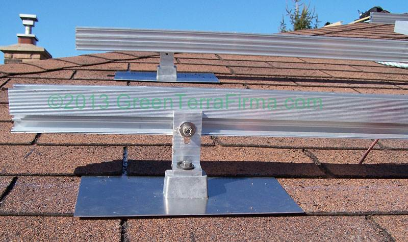 angled rooftop solar railings